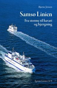 Færgerne KYHOLM og VESBORG mødes på omslaget til bogen